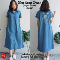 61127 elva long dress/baju wanita murah/baju wanita grosir/baju murah