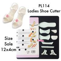 PL114 Ladies Shoe Cutter fondant gumpaste clay cetakan sepatu heels