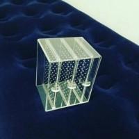 acrylic akrilik tempat anting 3laci