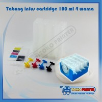 Tabung Infus Printer HP 100ml 4 warna + Damper