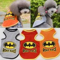 Baju Anjing / kucing gambar road race / batman