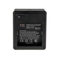 USB Dual Dua Battery Charger for Xiaomi Yi Ba kamera , camera termurah