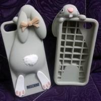 Casing Moschino Rabbit Kelinci for Iphone 5 3D Case cover uniqq lucu