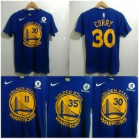Kaos T-SHIRT basket Golden State Warrior  GSW Curry blue