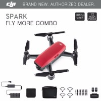 PROMO DRONE DJI SPARK FLY MORE COMBO LAVA RED