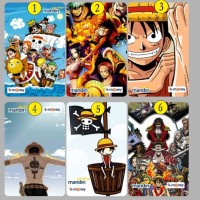 EMoney EToll Mandiri Custom Print Gambar One piece Luffy Anime