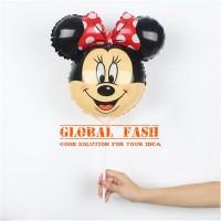 balon foil kepala minnie mouse / balon minnie mouse mini / balon