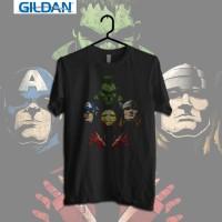 Gildan Custom Graphic Tshirt / Kaos  Superhero Avengers Rhapsody