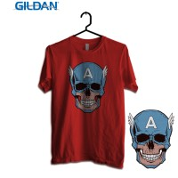 Gildan Custom Graphic Tshirt / Kaos  Superhero Captain Amerikilled