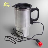 Jual Car Mug Stainless Elektrik (lengkap dengan colokan mobil) Murah