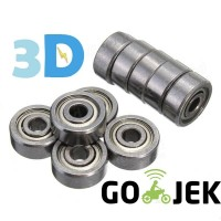 Ball Bearing 608zz 608z Miniatur 8x22x7 mm Steel