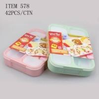 Lunchbox Anti Tumpah Sekat 4 Yooye (578)