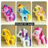 "Boneka kuda pony unicorn ( MY LITLE PONI 13"" )"