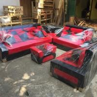 ready sofa minimalis merah hitam kursi ruang tamu murah terbaru
