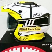 Helm JPX MX 726 motif Target Yellow White mirip Airoh Trr S