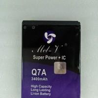 Baterai Batre Double Power + IC Advan Q7A Battery Original