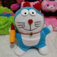 Jual Boneka doraemon mini kecil ukuran 25 lucu murah pensil musik Murah