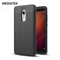 Leather Hard Soft Case Xiaomi Redmi Note 4X Casing HP Kulit Silikon 3D