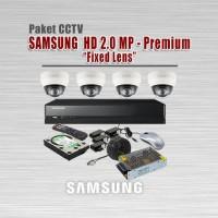Paket CCTV HD SAMSUNG, 2 MP, 4 Kamera, Lengkap + PASANG