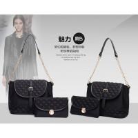 tas bahu cangklong hitam fashionista wanita plus dompet sederhana tote