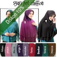 Hijab/Jilbab Khimar Syar'i Pet Chiffon