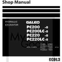 Shop Manual / Service Manual Komatsu Excavator Galeo PC220-8 PC220LC-8