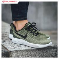Sepatu Nike LunarEpic Flyknit 2 Low Olive Green   Premium Original