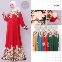 Baju Gamis Wanita Gamis Jumbo Jersey Korea Motif 6646