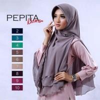 Jilbab Hijab Khimar Pepita Dua Lapis PIta Model Terbaru