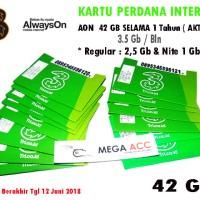 Kartu Perdana Internet 3 Tri Three Aon 42gb Sampai Juni 2 By: MS Store
