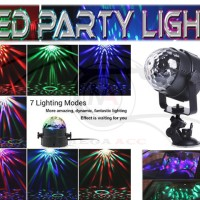 Mini RGB LED Party Light Disco Crystal Magic Ball Effect By: MS Store