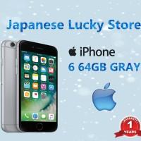 APPLE IPHONE 6 GREY 64GB - CAMERA SILENT - GARANSI 1 TAHUN