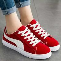 Sepatu Wanita Kets Puma New Merah DE2511