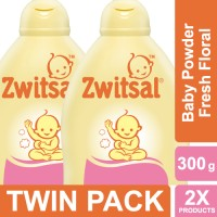 Zwitsal Baby Powder Classic Fresh Floral - 300gr Twin Pack