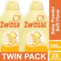Zwitsal Baby Powder Classic Soft Floral - 300gr Twin Pack