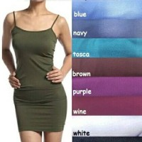 Dress Tanktop Basic / Dress Tank Top Basic / Tanktop Panjang