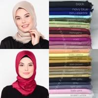 Hijab Jilbab kerudung Segiempat Katun Rawis premium - 11 Warna