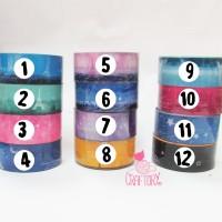 solasi warna-warni / solasi gambar / washi tape / fancy tape / selotip
