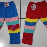 CLKD15 - Celana Legging Anak Rainbow Kerut Sz.2