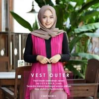 Vest outer / Rompi wanita bahan jersey / cardi ( cca )