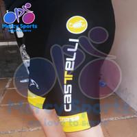 Celana Sepeda Pendek Castelli dgn Padding (BKP-004) warna baru kuning