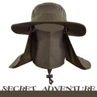 Topi Quick Dry Lapangan Rimba Mancing Fullface 3in1 Outdoor Bucket Hat