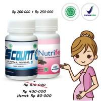 Paket Obat Kesuburan Pria & Wanita Agar Cepat Hamil S COUNT & NUTRIFER