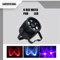 LAMPU PAR LED BEE MATA BEAM EFEK 6x10W LE009 UNTUK DISCO DJ BAR