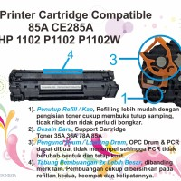 Toner Printer Cartridge Compatible 85A CE285A HP 1102 P1102 P1102W