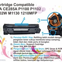 TONER compatible 85a ce285a 35a 36a ce278a Printer hp laser p1102 1132