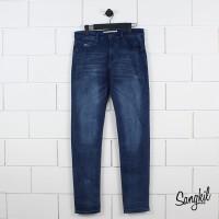Lacoste Mens Slim Fit Five Pockets Stretch Cotton Denim Jeans Blue
