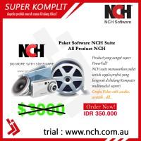 Paket Semua Software All NCH suite bisa untuk rekaman audio video edit