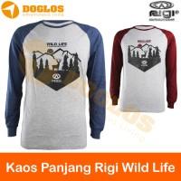 Promo Kaos Panjang Rigi Wild Life Raglan outdoor gunung trave EH-34L H