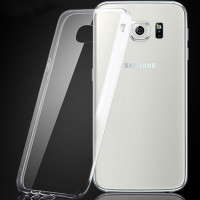 Silicon Soft Case For Samsung Galaxy S6 Edge 0.25mm Transparant